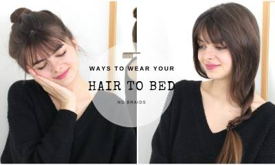 Ways To Wear Your Hair To Bed | No Braids