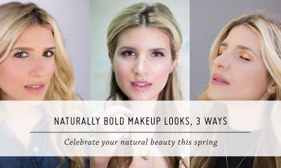 Natural & Bold Beauty, 3 Ways | Spring Style and Makeup Looks | Mr Kate