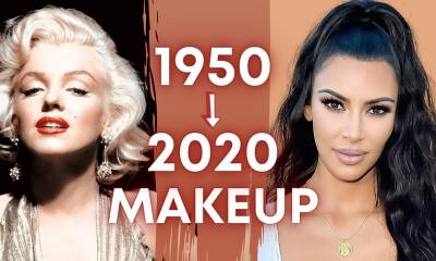 1950s Vintage Makeup To 2020 Modern Makeup Tutorial | 70 Years of Beauty Icons | Glam & Glow