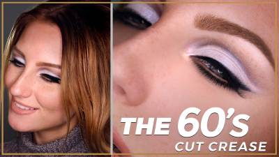 DECADES SERIES: 60s Original Cut Crease Makeup Tutorial / Modern Pastel Look Twiggy Inspired